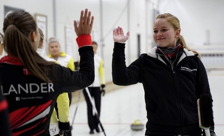 Andenplads til Team Lander/Halse i Nordic Junior Curling Tour